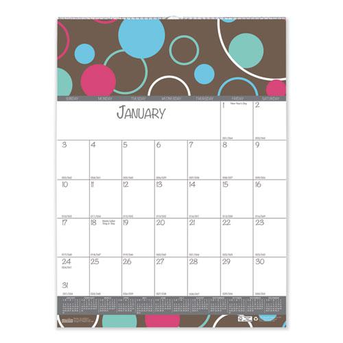100% Recycled Bubbleluxe Wall Calendar, 12 x 12, 2021. Picture 2