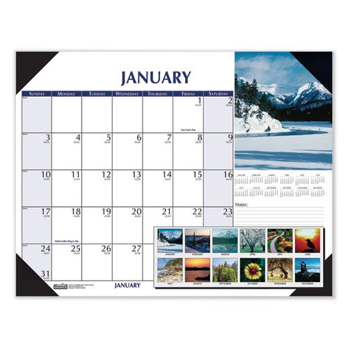 Earthscapes Scenic Desk Pad Calendar, 18.5 x 13, 2021. Picture 1