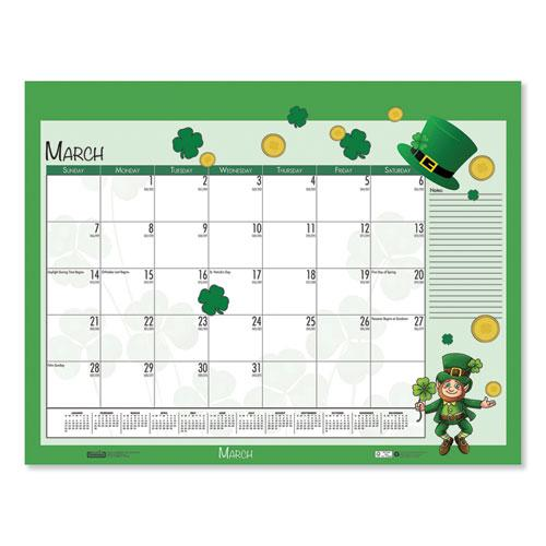 Earthscapes Seasonal Desk Pad Calendar, 22 x 17, Illustrated Holiday, 2021. Picture 2