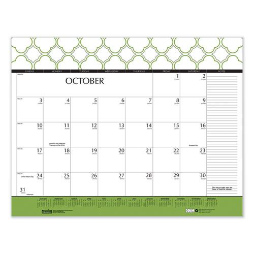 100% Recycled Geometric Desk Pad Calendar, 22 x 17, 2021. Picture 5