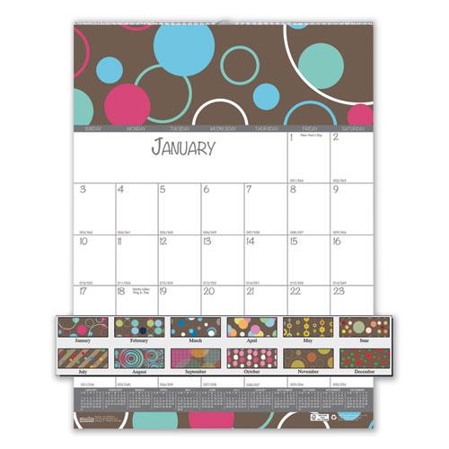 100% Recycled Bubbleluxe Wall Calendar, 12 x 16.5, 2021. Picture 1