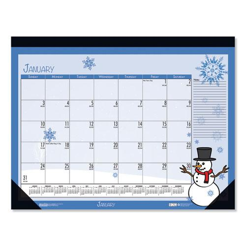 Earthscapes Seasonal Desk Pad Calendar, 22 x 17, Illustrated Holiday, 2021. Picture 5