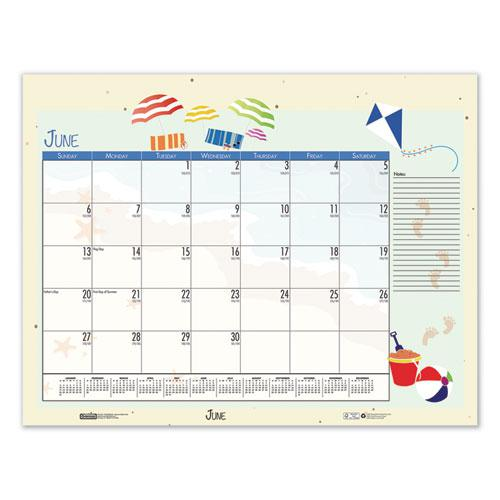 Earthscapes Seasonal Desk Pad Calendar, 22 x 17, Illustrated Holiday, 2021. Picture 12