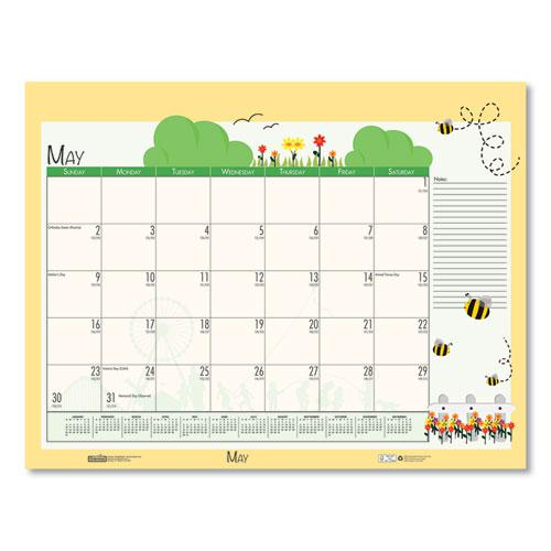 Earthscapes Seasonal Desk Pad Calendar, 22 x 17, Illustrated Holiday, 2021. Picture 9