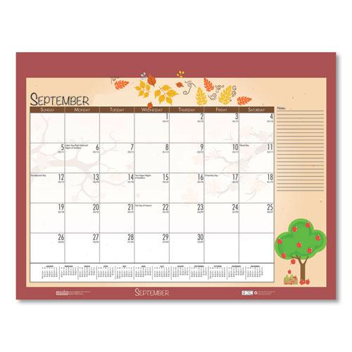 Earthscapes Seasonal Desk Pad Calendar, 22 x 17, Illustrated Holiday, 2021. Picture 14