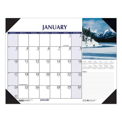 Earthscapes Scenic Desk Pad Calendar, 18.5 x 13, 2021. Picture 3