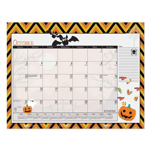 Earthscapes Seasonal Desk Pad Calendar, 22 x 17, Illustrated Holiday, 2021. Picture 7