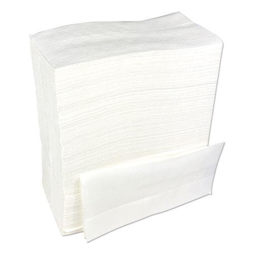 """Tallfold Dispenser Napkin, 12"""" x 7"""", White, 500/Pack, 20 Packs/Carton. Picture 2"""