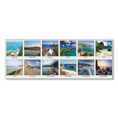 100% Recycled Earthscapes Seascapes Desk Pad Calendar, 22 x 17, 2021. Picture 3