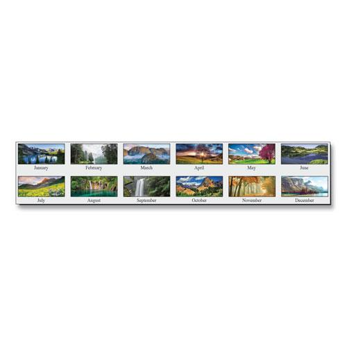Recycled Scenic Photos Desk Tent Monthly Calendar, 8.5 x 4.5, 2021. Picture 3