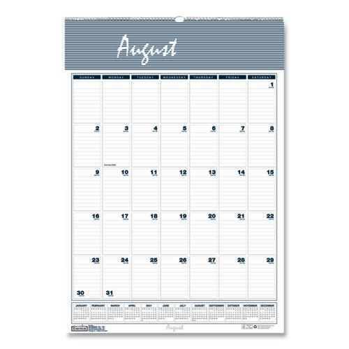 Recycled Bar Harbor Wirebound Academic Monthly Wall Calendar, 12 x 17, 2020-2021. Picture 1