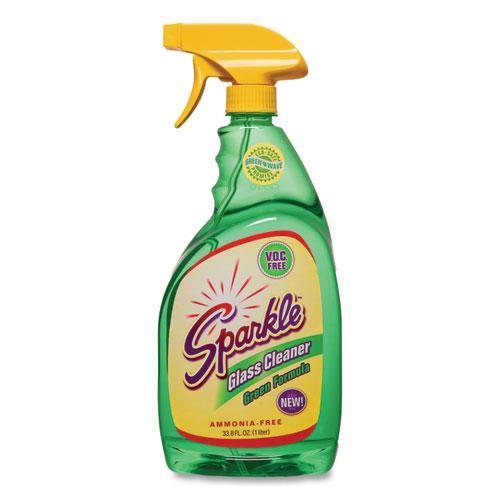 Green Formula Glass Cleaner, 33.8 oz Bottle. Picture 1