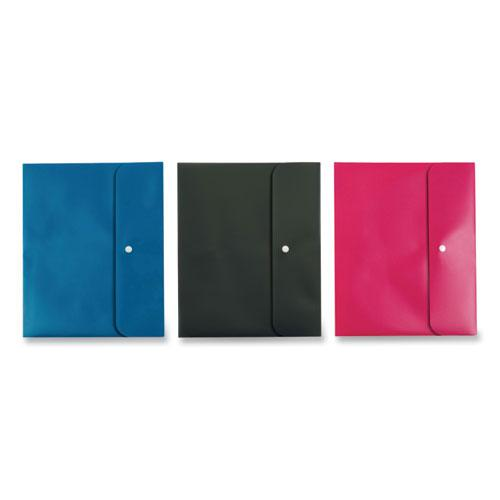 Two Pocket Folders, Poly, Letter, Blue, Black, Pink, 3/Pack. Picture 1