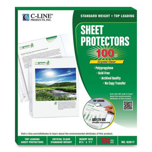 """Sheet Protectors, Clear, Polypropylene, 2"""", 11 x 8 1/2, 100/BX. Picture 6"""