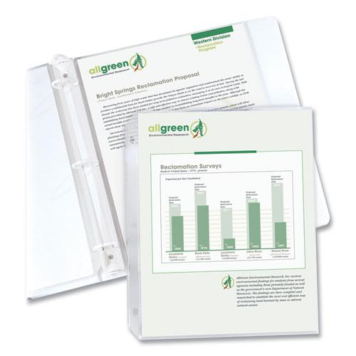 """Sheet Protectors, Clear, Polypropylene, 2"""", 11 x 8 1/2, 100/BX. Picture 8"""