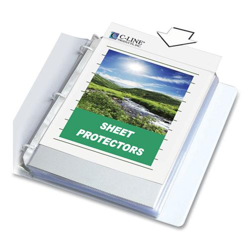 """Sheet Protectors, Clear, Polypropylene, 2"""", 11 x 8 1/2, 100/BX. Picture 1"""