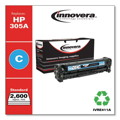 Remanufactured Cyan Toner, Replacement for HP 305A (CE411A), 2,600 Page-Yield. Picture 2