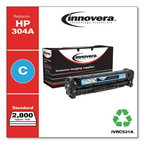 Remanufactured Cyan Toner, Replacement for HP 304A (CC531A), 2,800 Page-Yield. Picture 1