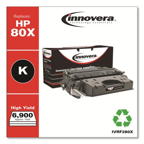 Remanufactured Black High-Yield Toner, Replacement for HP 80X (CF280X), 6,900 Page-Yield. Picture 2