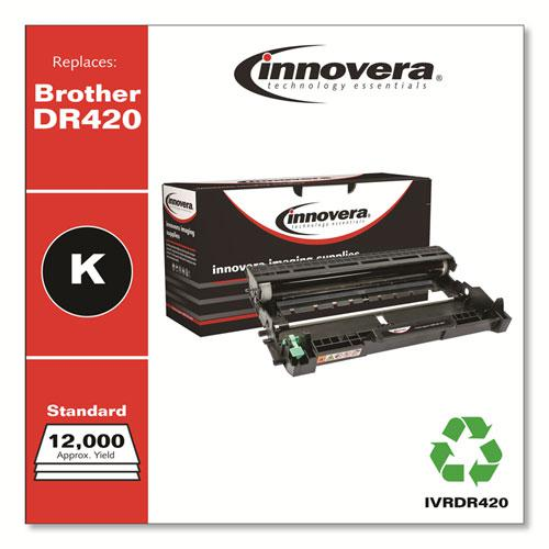 Remanufactured Black Drum Unit, Replacement for Brother DR420, 12,000 Page-Yield. Picture 2