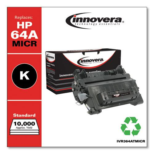 Remanufactured Black MICR Toner, Replacement for HP 64AM (CC364AM), 10,000 Page-Yield. Picture 2