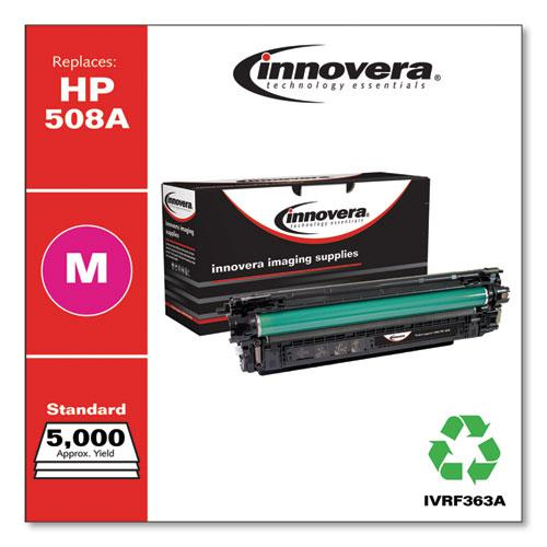 Remanufactured Magenta Toner, Replacement for HP 508A (CF363A), 5,000 Page-Yield. The main picture.