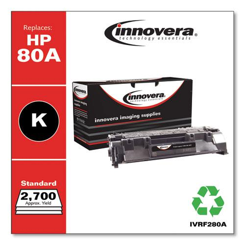 Remanufactured Black Toner, Replacement for HP 80A (CF280A), 2,700 Page-Yield. Picture 1