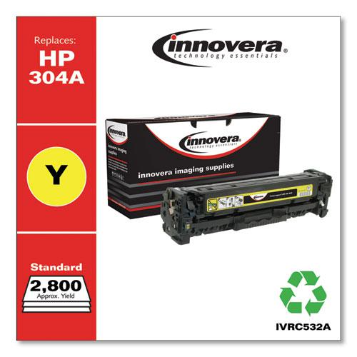 Remanufactured Yellow Toner, Replacement for HP 304A (CC532A), 2,800 Page-Yield. Picture 2