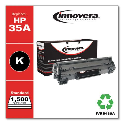 Remanufactured Black Toner, Replacement for HP 35A (CB435A), 1,500 Page-Yield. Picture 2