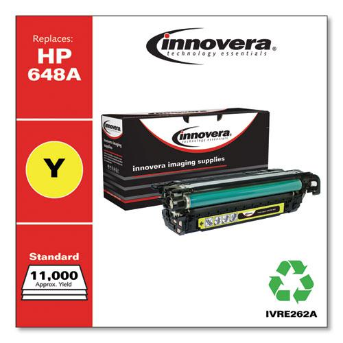 Remanufactured Yellow Toner, Replacement for HP 648A (CE262A), 11,000 Page-Yield. Picture 2