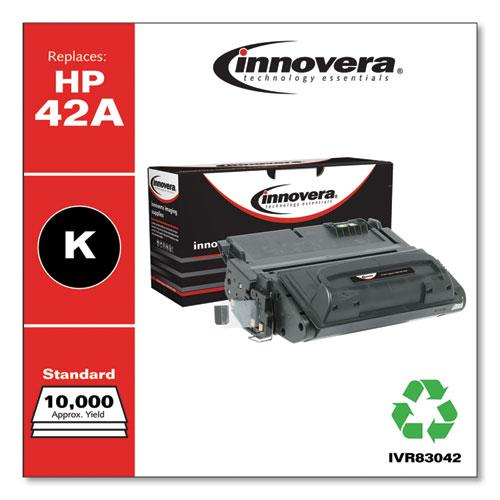 Remanufactured Black Toner, Replacement for HP 42A (Q5942A), 10,000 Page-Yield. Picture 2