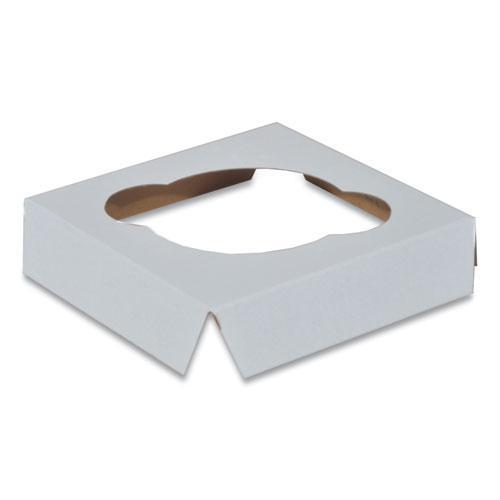 Cupcake Holder Inserts, 4.38 x 4.38 x 0.88, White/Kraft, 200/Carton. Picture 1