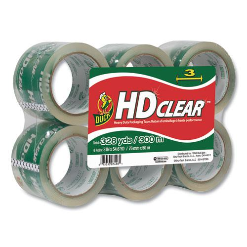 """Heavy-Duty Carton Packaging Tape, 3"""" Core, 3"""" x 54.6 yds, Clear, 6/Pack. Picture 1"""