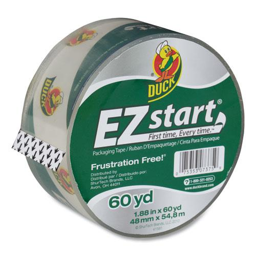 """EZ Start Premium Packaging Tape, 3"""" Core, 1.88"""" x 60 yds, Clear. Picture 1"""