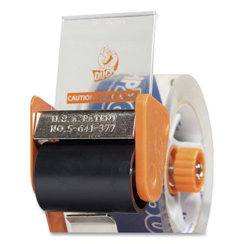 "Bladesafe Antimicrobial Tape Gun with Tape, 3"" Core, Metal/Plastic, Orange. Picture 2"