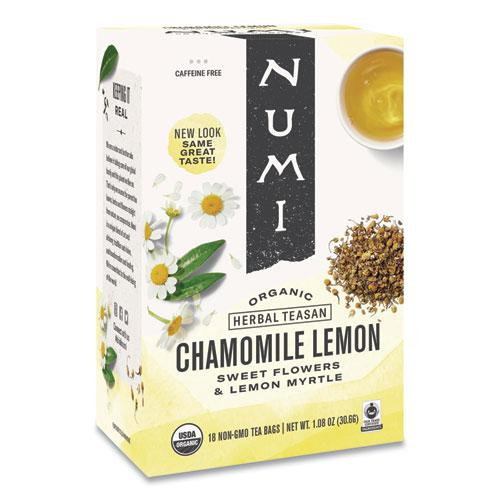 Organic Teas and Teasans, 1.8 oz, Chamomile Lemon, 18/Box. Picture 1