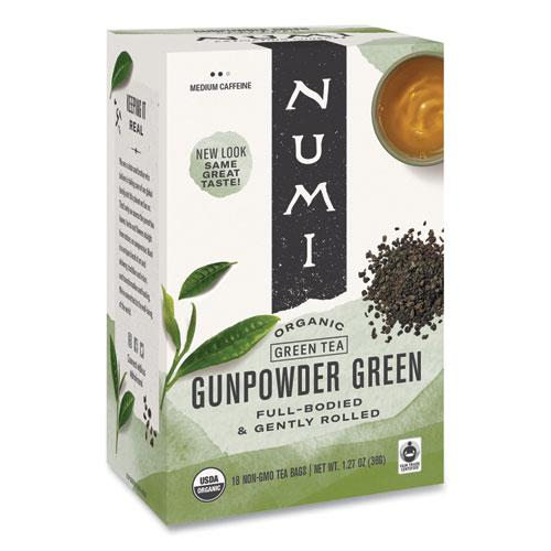 Organic Teas and Teasans, 1.27 oz, Gunpowder Green, 18/Box. Picture 1