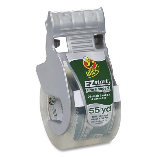 """EZ Start Premium Packaging Tape with Dispenser, 1.5"""" Core, 1.88"""" x 55.5 yds, Clear. Picture 1"""