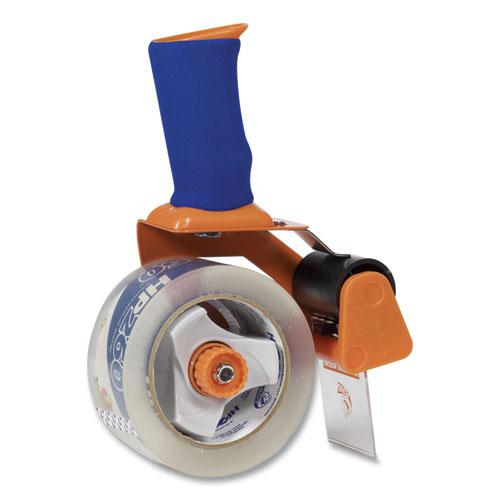 "Bladesafe Antimicrobial Tape Gun with Tape, 3"" Core, Metal/Plastic, Orange. Picture 4"