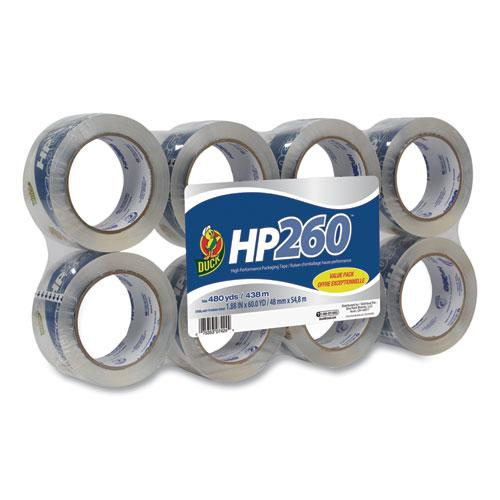 "HP260 Packaging Tape, 3"" Core, 1.88"" x 60 yds, Clear, 8/Pack. Picture 1"