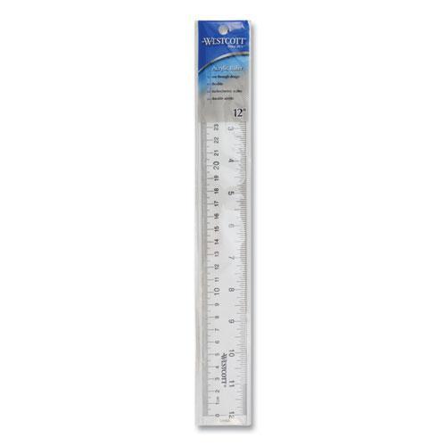 """See Through Acrylic Ruler, 12"""", Clear. Picture 4"""
