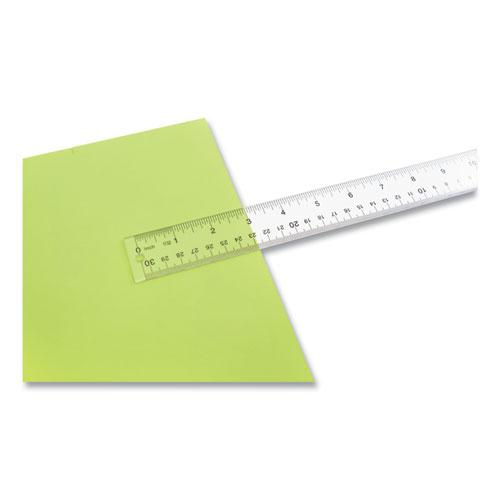 """See Through Acrylic Ruler, 12"""", Clear. Picture 3"""