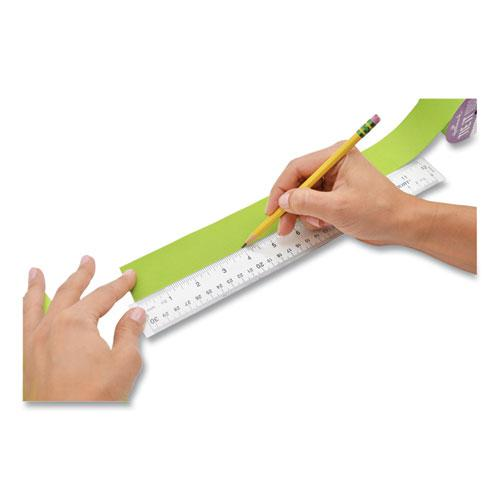 """See Through Acrylic Ruler, 12"""", Clear. Picture 2"""