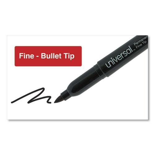 Pen-Style Permanent Marker, Fine Bullet Tip, Black, Dozen. Picture 3