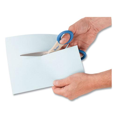 """Scissors with Antimicrobial Protection, 8"""" Long, 3.5"""" Cut Length, Blue Straight Handle. Picture 2"""