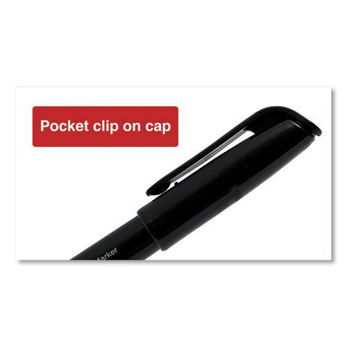 Pen-Style Permanent Marker, Fine Bullet Tip, Black, Dozen. Picture 2