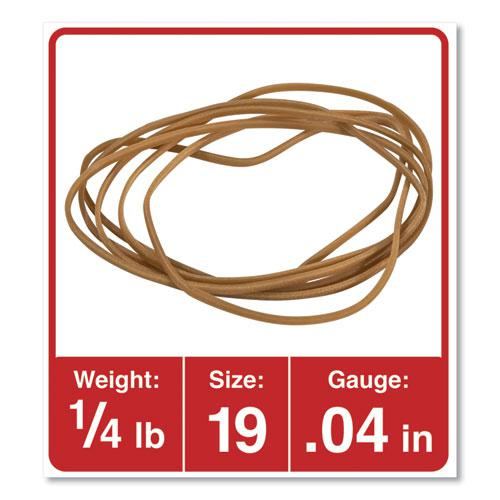 "Rubber Bands, Size 19, 0.04"" Gauge, Beige, 4 oz Box, 310/Pack. Picture 2"