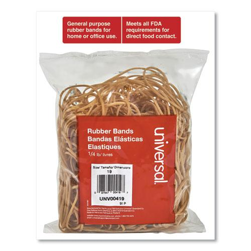 "Rubber Bands, Size 19, 0.04"" Gauge, Beige, 4 oz Box, 310/Pack. Picture 3"