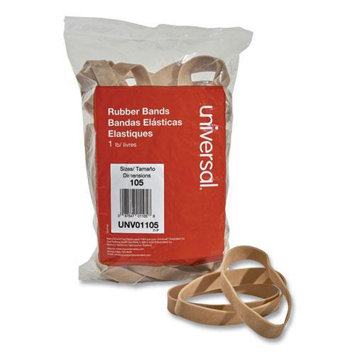 "Rubber Bands, Size 105, 0.06"" Gauge, Beige, 1 lb Box, 55/Pack. Picture 1"