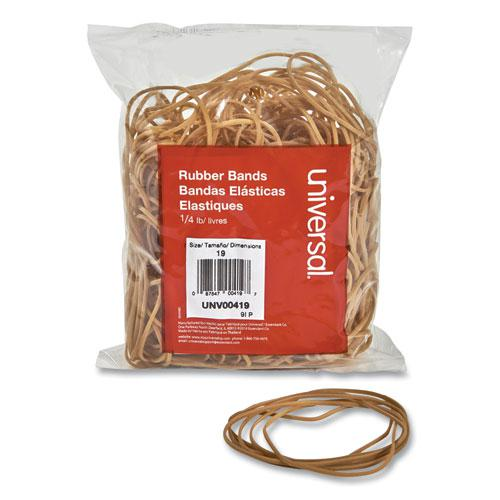 "Rubber Bands, Size 19, 0.04"" Gauge, Beige, 4 oz Box, 310/Pack. Picture 1"